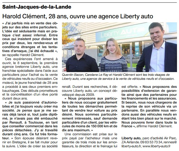 Article de presse rennes
